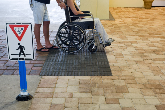 Wheelchair Use Over Concrete Paver Surfaces