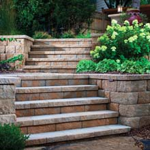 Anchor Diamond Pro Stone Cut Segmental Retaining Wall Preview
