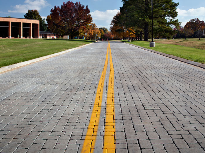 "Commercial & Residential Roads: Paver Thickness of 3 1/8"", Aspect Ratio of 3.5:1"