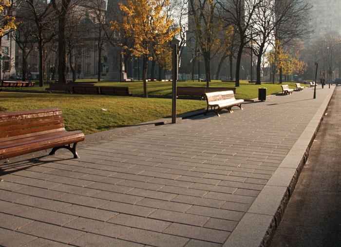 Commercial Plazas: No Paver Design Restrictions