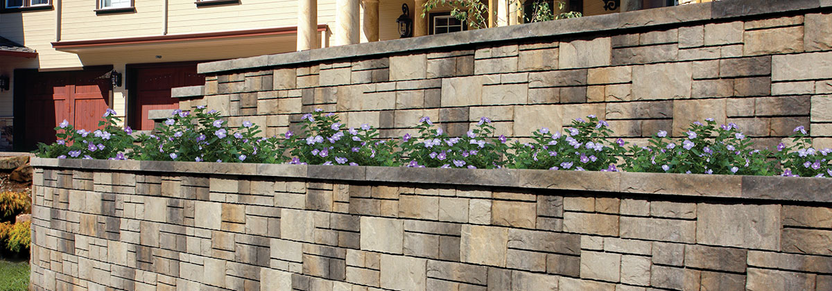 Tandem Wall Segmental Retaining Wall System From Belgard