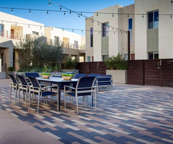 Brown & Tan Moduline Pavers for Backyard Patios