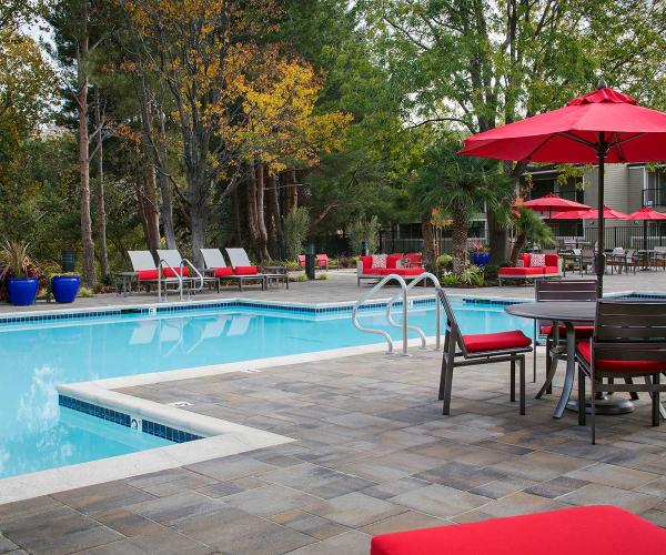 Lafitt Grana Slab Pavers for Poolside Patios