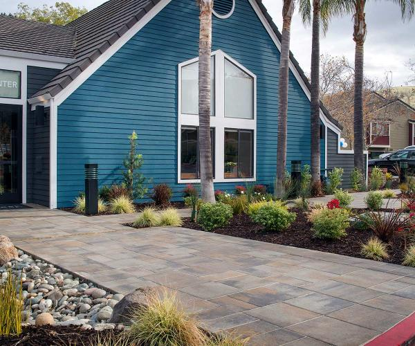 Lafitt Grana Slab Pavers for Commercial Walkways